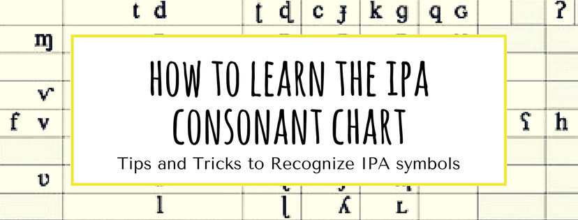 How To Learn The Ipa Consonant Chart Reach For The Speech